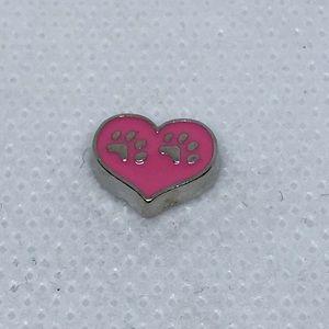 Jewelry - Pink Footprints Heart Charm